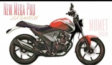 Honda New Mega Pro modifikasi scrambler
